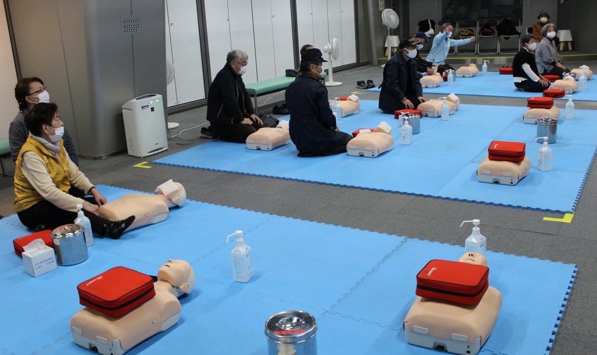 AED取扱の体験''
