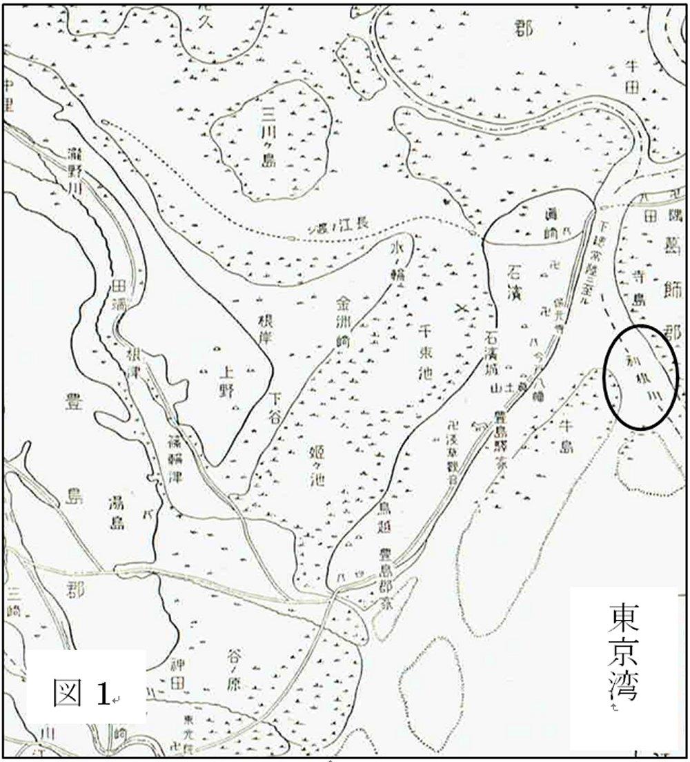墨田区以西の鎌倉時代の推測地図です''